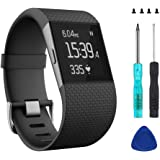 Wizvv Compatible Bands for Fitbit Surge, with Metal Buckle Fitness Wristband Strap Women Men Large Small