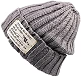 HIROMARUjp ニット帽 タグ付き ニットキャップ 帽子 男女兼用 A グレー