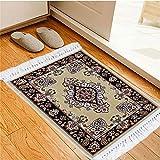 綿花世界 新疆ウイグル自治区からの玄関マット ウィルトン織 カーペット ラグマット ペルシャ絨毯 柄 絨毯じゅうたん レッド 赤 色とサイズお揃い