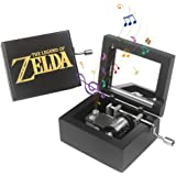 ROSIKING Black Wood Mechanism Musical Box Wind Up Music Box Gift for Christmas/Birthday/Valentine's Day, Melody (The Legend o