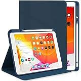 DYDRIN iPad 10.2 第8世代/第7世代 ケース (2019/2020モデル) ipad Air 3 / Pro 10.5 ケース 通用 PU レザー 手帳型 Apple Pencil 一代収納可能 スタンド機能 [オートスリープ/ウェイ