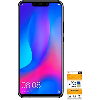 HUAWEI nova 3 【OCNモバイルONE SIM付】 (音声・SMS・データ共通SIM ブラック)