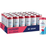 Mount Franklin Lightly Sparkling Water Raspberry, Multipack Mini Cans 24 x 250mL