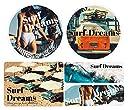 Surf Dreamsステッカーセット 夏 summer ビキニ サーフィン 海 (エアフリー(再剥離可能))