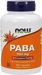 [海外直送品] ナウフーズ PABA 500mg 100カプセル