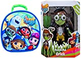 """Beat BugsパズルPal Crick文字–Stem Play Build a図promotes問題解決クリケット+ Beat Bugs 9"""" Lunchバッグwith Hands Freeクリップ&アレルギーウィンドウ"""