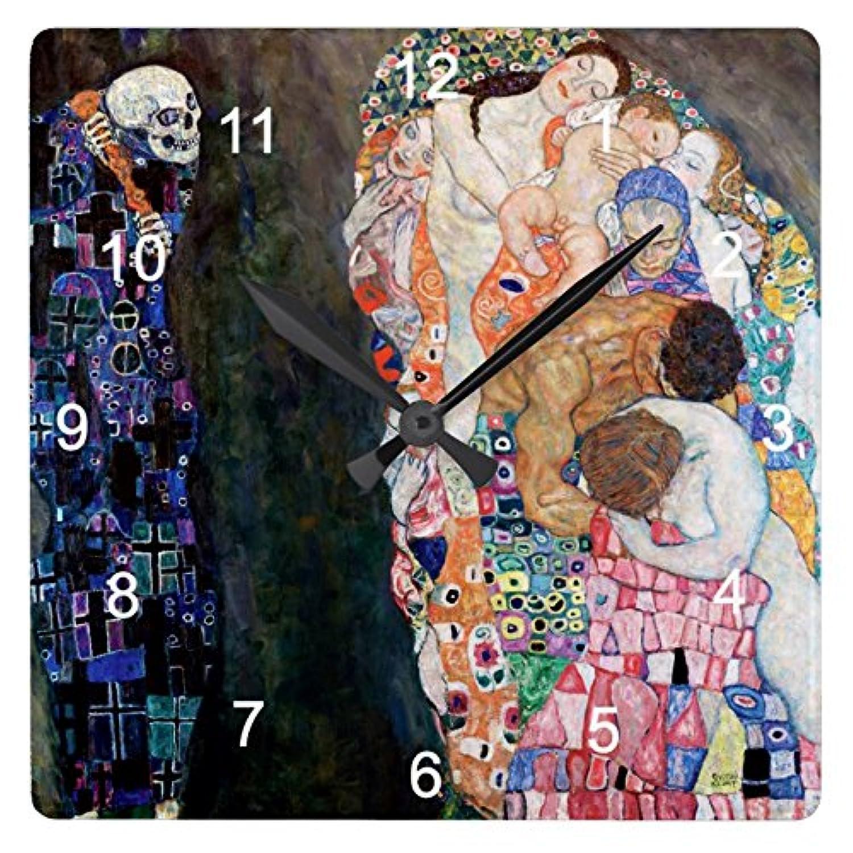 グスタフ?クリムト 『 死と生 』の壁掛け時計:ピクチャークロック(世界の名画シリーズ) (C) [並行輸入品]