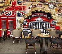 Yosot 3Dの写真の壁紙カスタムリビングルーム子供の壁画英国旗車壊れ壁写真画像 Ktv 3 D 3 の壁の壁画壁紙 D-250Cmx175Cm