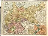 Historicマップ| 1892Rand McNally & Co。'Sのインデックス付きAtlas Theワールドマップドイツの|アンティークヴィンテージReproducti..