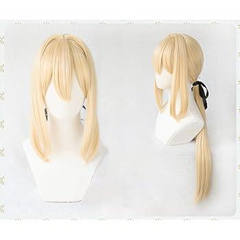 耐熱コスプレウィッグ 髪飾り付 ヴァイオレット・エヴァーガーデン 355d コスチュム cos wig+おまけ