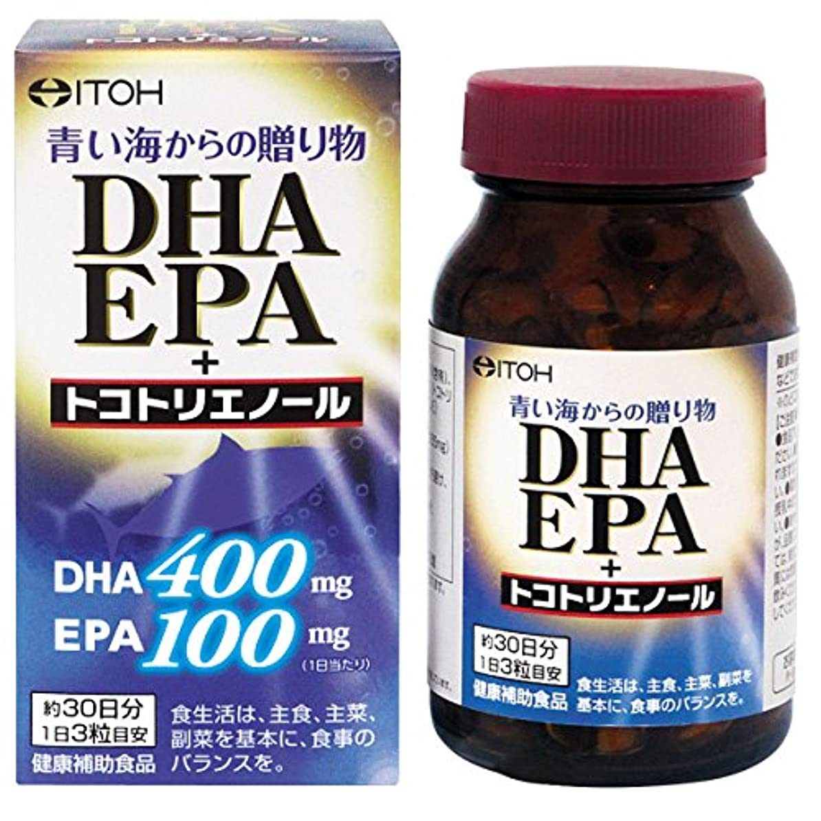 知覚できるテンポ嘆く井藤漢方製薬 DHA EPA+トコトリエノール 約30日分 90粒