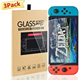 Switch Screen Protector for Nintendo Switch Tempered Glass 3 Pack Screen Saver Protector Film with Transparent HD Clear Anti-