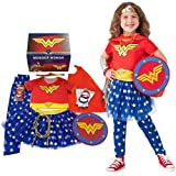 Rubie's Imagine Wonder Woman Dress-Up and Super Hero Play Trunk, Multi-Costume Role Play, Small