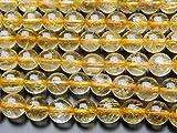 【 福縁閣 】【 ゴールドルチルクォーツ 】 8mm 1連(約38cm)_R1108/A5-3 天然石 パワーストーン ビーズ