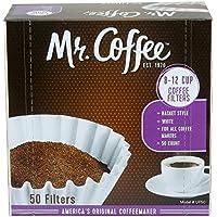Mr. Coffee [ミスターコーヒー]8-12 Cup バスケットタイプ コーヒーフィルター50枚 12パックセット メイドインUSA 【並行輸入品】