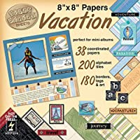 "Paper Pizazz Paper & Accents 8""X8""-Vacation (並行輸入品)"
