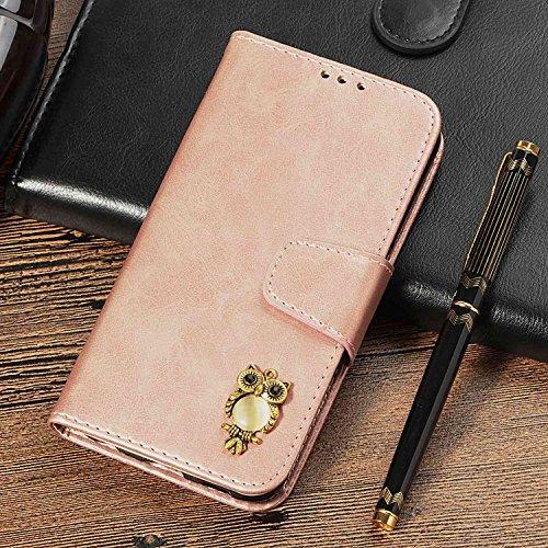 CUSKING Galaxy S4 手帳型 ケース、ギャラクシ S4 スマホケースPUレザー フリップ ノート型 ストラップ付き カード収納付き 保護ケース - ローズゴールド