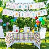 ハッピーバースデー バンティングバナー ユニコーンテーマ キラキラパーティーの記念品 かわいいファンタジーの赤ちゃんや子供の誕生日パーティー用品
