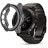 Protector Case Compatible with Garmin Fenix 5X,Soft TPU Cover Ultra Thin Protective Shell Smartwatch Accessories (Black)