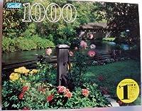 古いOakenポンプWaupaca郡ウィスコンシンCovered Bridge andストリーム1000Piece Puzzle by Guild by Unknown by不明