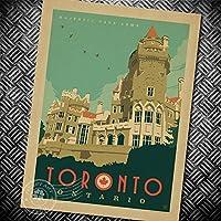 Decoスペースヴィンテージレトロクラフトペーパーポスター–Toronto Ontario–クリエイティブUnframedインドアアート壁装飾42x 30cm / 16.5X 12インチ