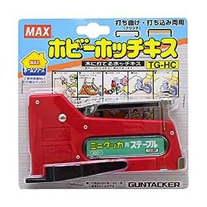 マックス(MAX) ミニタッカ TG-HC  赤、青、黄 アソート品 色の指定は出来ません