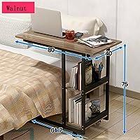 HAUYU テーブル 終わりのベッドのベッドサイドテーブルラップトップデスクホームオフィスのための現代的な家具80 * 40 * 75CM 耐久性のある (色 : 1004)