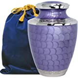 Eternal Peace Beautiful Lavender Adult Cremation Urn for Human Ashes - A Gorgeous Large Urn Dazzling to See and Hold and Will