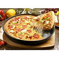 Ruier-tong 高品質 ピザ金型 グリル用 ピザ焼きトレー ノンスティックピザパン ピザパンベーキングトレイ ピザ焼きプレート 耐粘 耐熱皿 家庭用 9インチ 23.7*3.8cm 炭素鋼