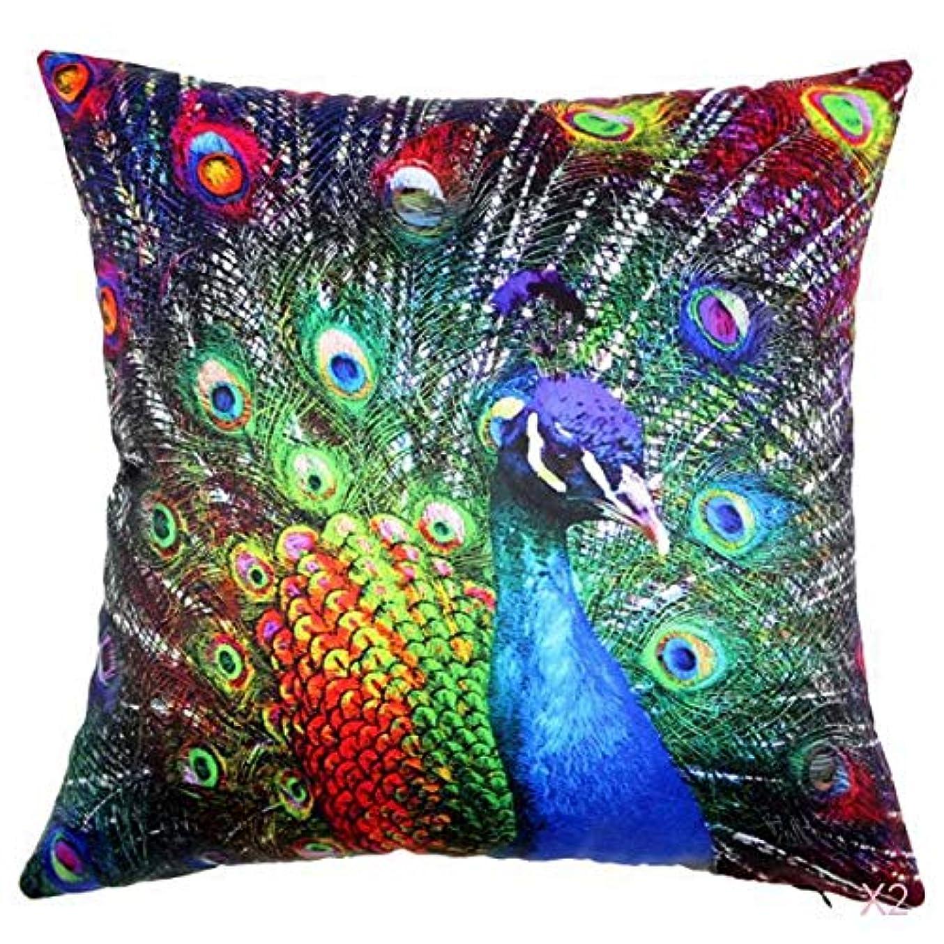 愚かな評論家軽蔑する45センチメートル家の装飾スロー枕カバークッションカバーヴィンテージ孔雀のパターン02