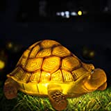 Solar Turtle Outdoor Lights Garden Decorations Animal Statue for Lawn Yard Backyard