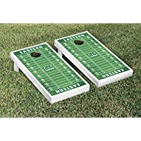 Eastern Michigan Eagles regulation Cornhole Game Setフットボールフィールドバージョン