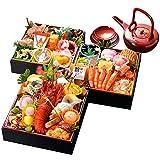 小樽きたいち 海鮮おせち 楓 6.5寸三段重 全39品【通常配送をお選び頂いた場合でも12月30日(土)着のみのお届けとなります】