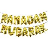 16inch Rose Gold Eid Mubarak Foil Balloons Party Decoration Supplies Ramadan Decoration Gold EID Balloons for Muslim EID Ball