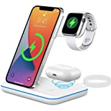 Wireless Charger DOSHIN 15W Fast Charger Stand 3 in 1 Docking Charging Station for iPhone 12/12 Pro/SE/11 Pro/XS max/XR/X,Sam