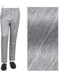 ソリード SOLIDO / 【国内正規品】コットンストレッチフランネルストライプ1プリーツパンツ『CORNIOLO』 (L.GRAY/ライトグレー) メンズ