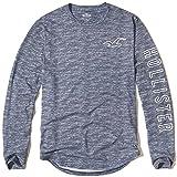 (ホリスター)Hollister メンズ ロングTシャツ ( ロンT ) TEXTURED LOGO GRAPHIC TEE [並行輸入品]