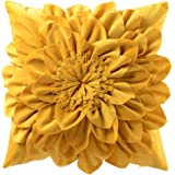OiseauVoler 3D Flower Throw Pillow Cases Decorative Cushion Covers Soft Velvet Pillowcases Home Sofa Car Bed Room Decor 18 x