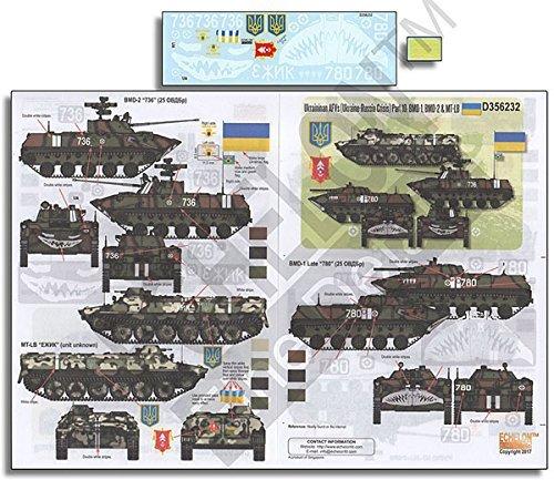 エシェロン 1/35 ウクライナ軍 ウクライナ・ロシア危機 AFV Part10 BMD-1/BMD-2&MT-LB プラモデル用デカール D356232