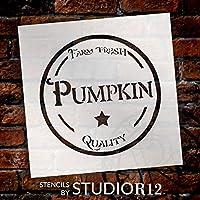 """ファーム新鮮Pumpkin–Fancy–Wordアートステンシル–12"""" x 12""""–stcl2105_ 2–by studior12"""
