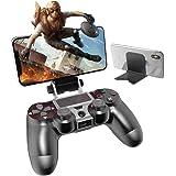 PS4携帯電話ホルダー iphone コントローラー PS4コントローラー用スマホホルダー 荒野行動 PS4 無線ゲームコントローラーブラケットPS4用コントローラクリップ PS4コントローラー専用スマホ固定ホルダー PS4スマホマウントホルダー ワ