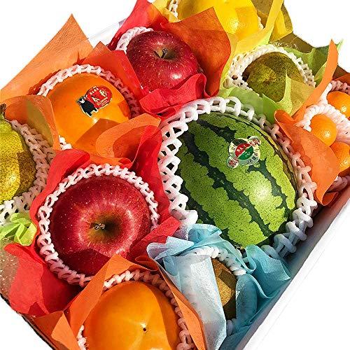 【贈答用】 小玉すいか フルーツ詰め合わせ 大 化粧箱入り 御祝 景品 法事