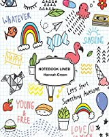 Notebook Lined: Colorful Doodle on Paper: Notebook Journal Diary, 120 Pages, 8 X 10