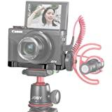 """UURig R016 C-G7X Mark III Vlog Camera Cold Shoe Extension Microphone Side Mount for Canon G7X Mark III Camera, 1/4"""" Tripod Mo"""