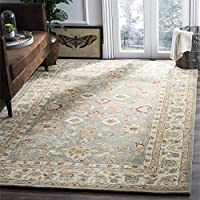 Safavieh Antiquities Collection AT822A Handmade Traditional Oriental Grey Blue and Beige Wool Area Rug (3' x 5') 【Creative Arts】 [並行輸入品]