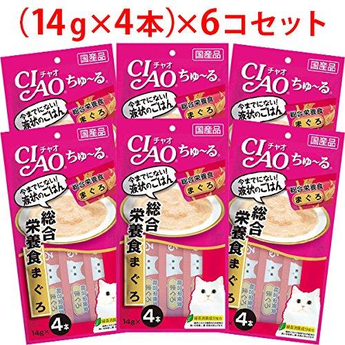 【セット販売】チャオ ちゅ~る 総合栄養食 まぐろ (14g×4本)×6コ [ちゅーる]