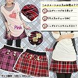 女児 AKB48制服風赤チェックスカート