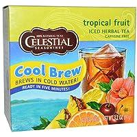 海外直送品】【2箱】Celestial Seasonings Cool Brew トロピカルフルーツ 40ティーバッグx2箱