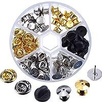 eBoot 65個3つのスタイルクラッチピンは、20本のタイタックブランクピンをバックアップします 銀