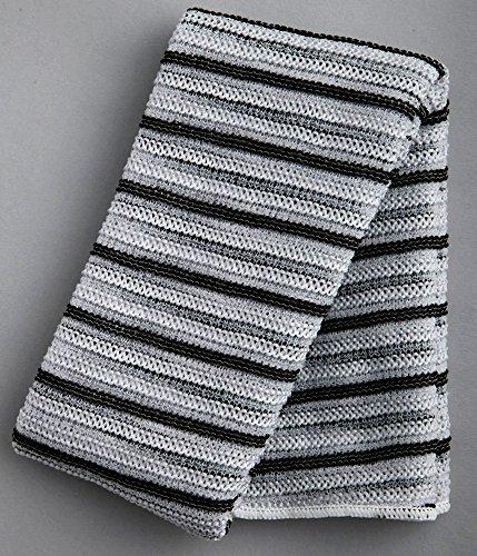 【 ボディタオル まとめ買い セット 】 男 の キメ肌 泡ふわ タオル ブラック 2個パック BY254